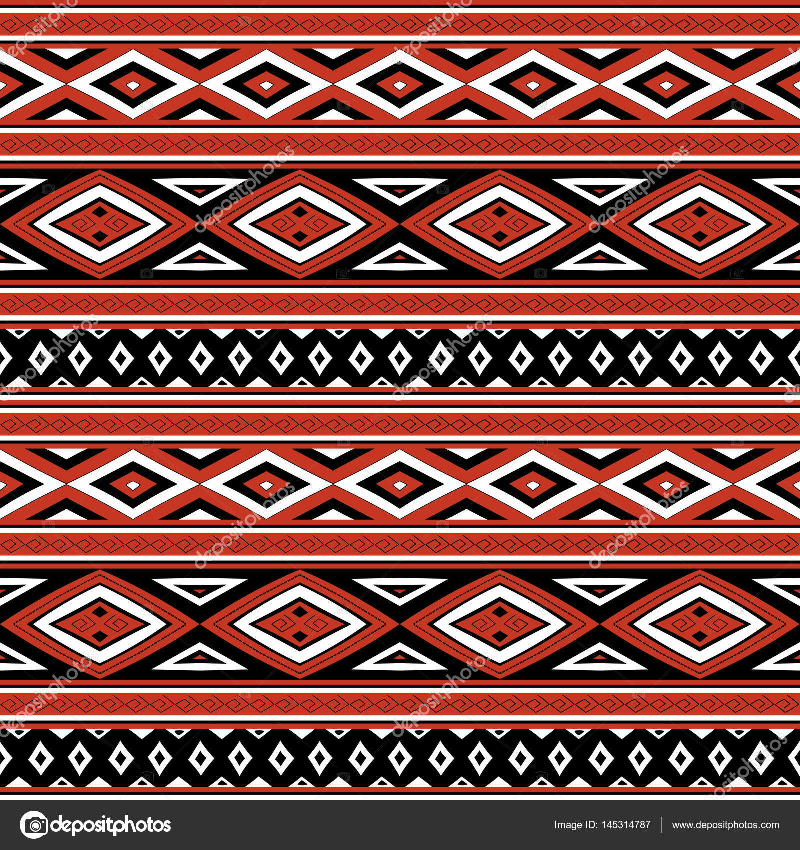 Tribal Pattern Vector Seamless Peruvian Print With Quechua Traditional Elements Background For Fabric Wallpaper Wrapping Paper And Card Template