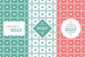 Fotografie Soap package patterns seamless vector