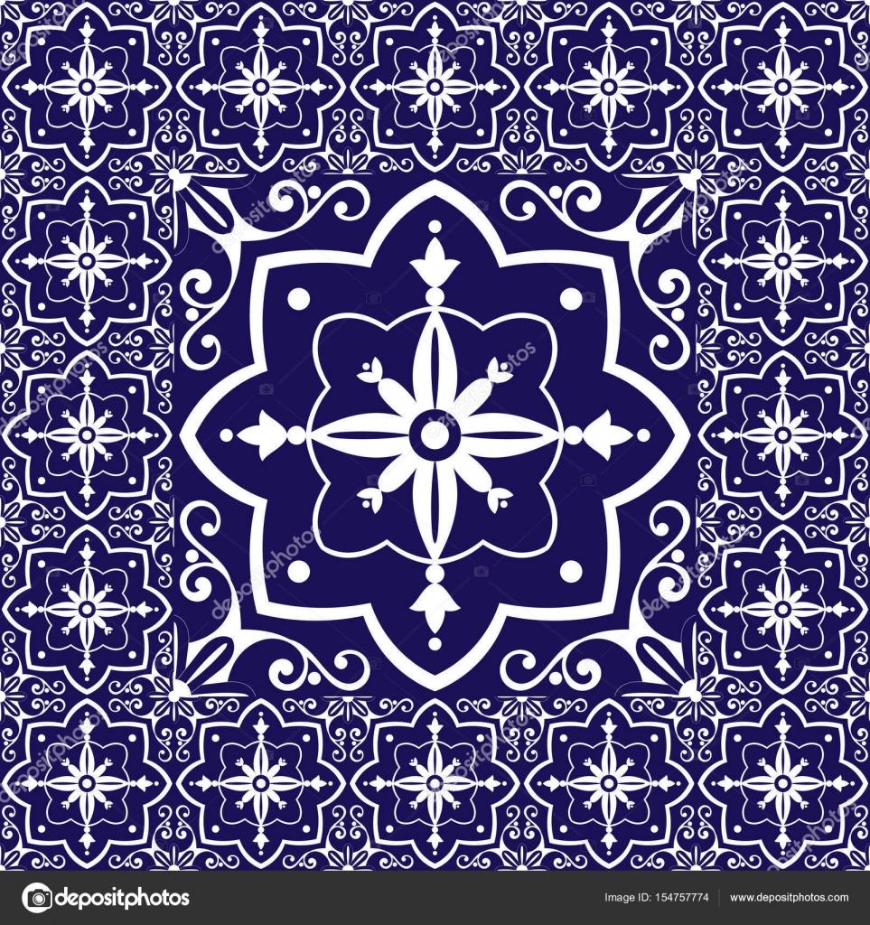 Vector de patr n vintage de piso de azulejos con baldosas - Azulejos con dibujos ...