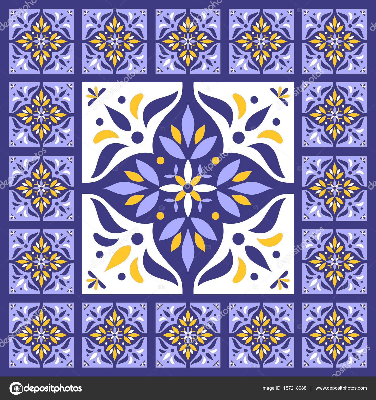 Blau blaue Fliesen Boden — Stockvektor © irinelle #157218088