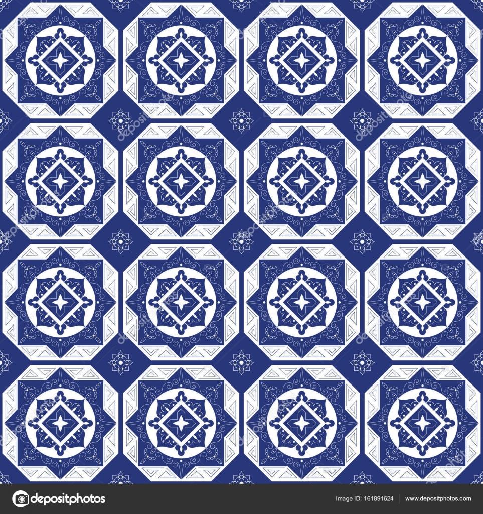 Holland blue white porcelain tile floor — Stock Vector © irinelle ...