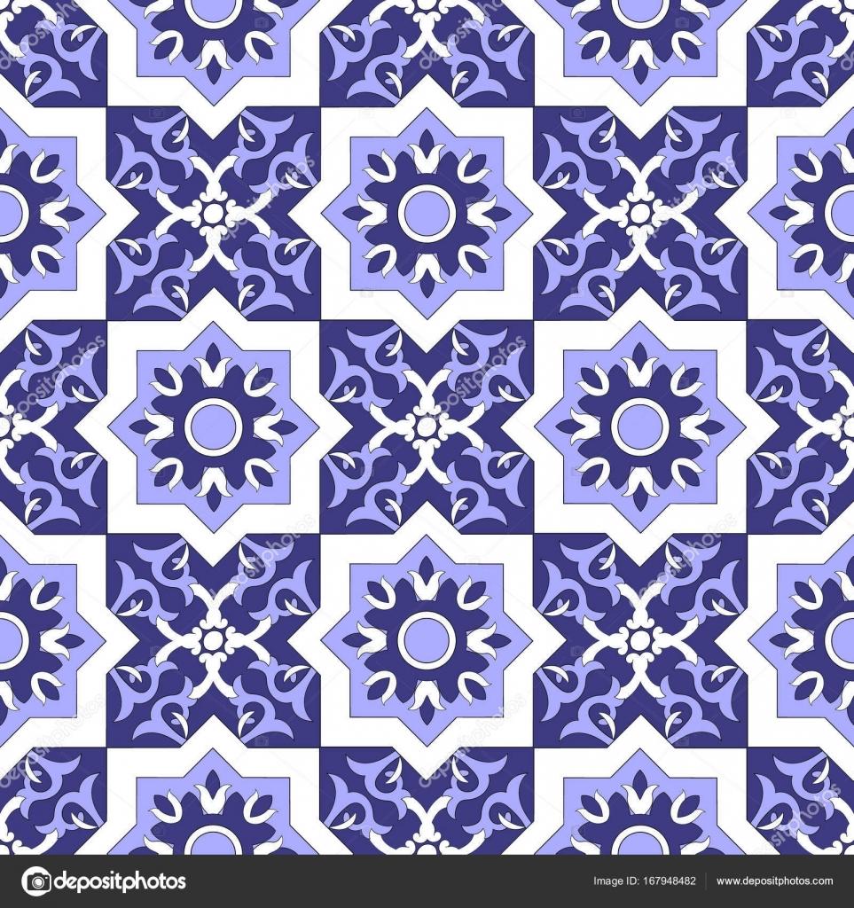 naadloze tegel patroon met portugese azulejos