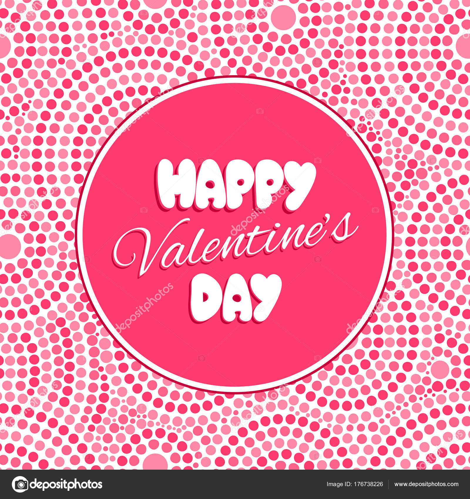 Valentine Day Card Template Vecteur Image Vectorielle Irinelle