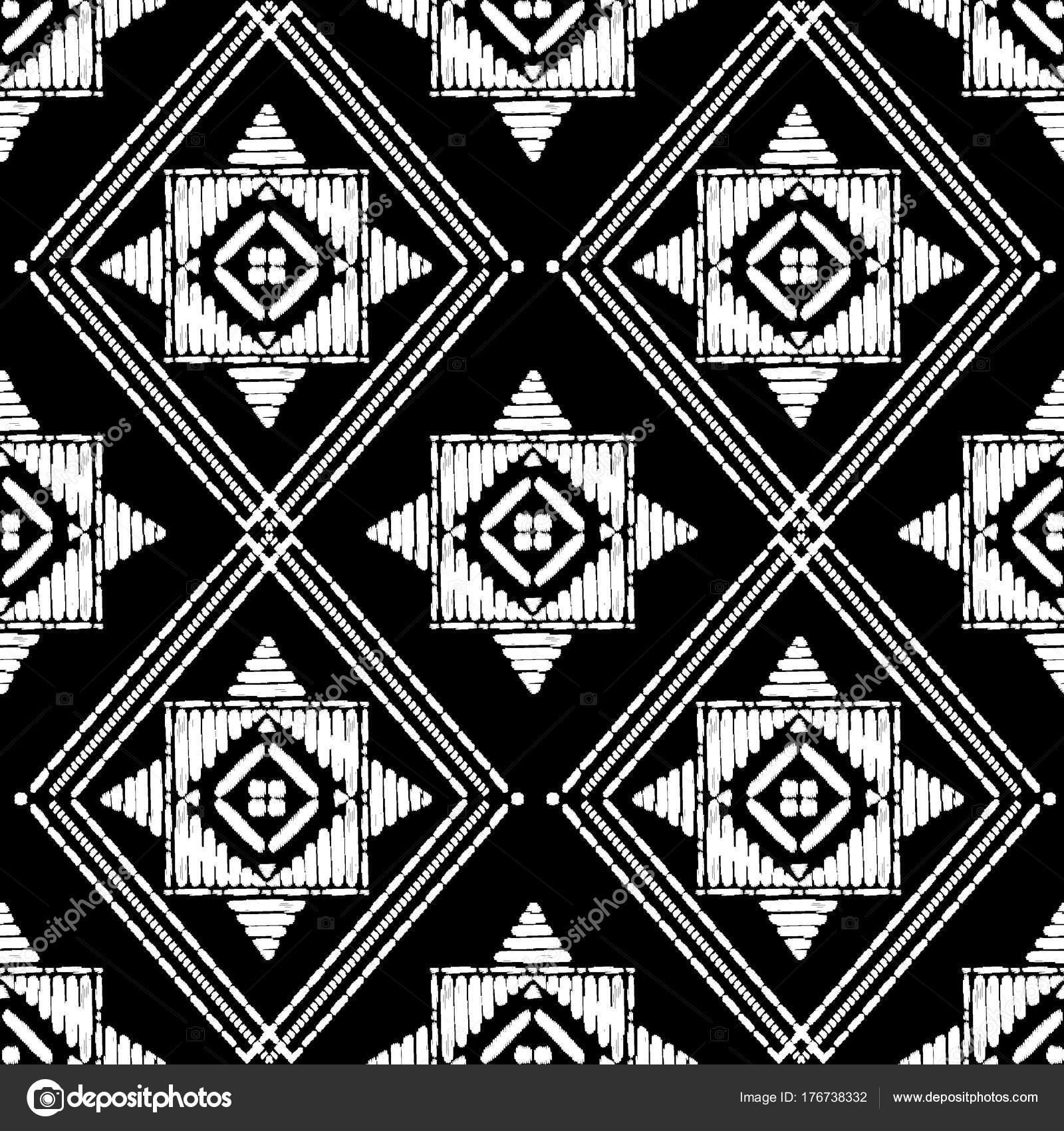 Azteca bordado patrón de vector transparente de diseño — Archivo ...