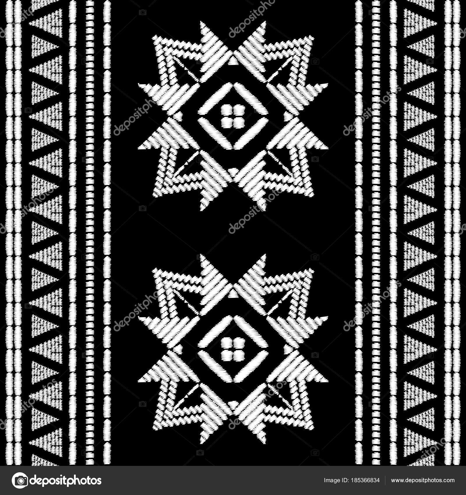 Azteca bordado patrón de vector transparente de diseño — Vector de ...