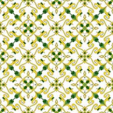 Portuguese tiles pattern vector