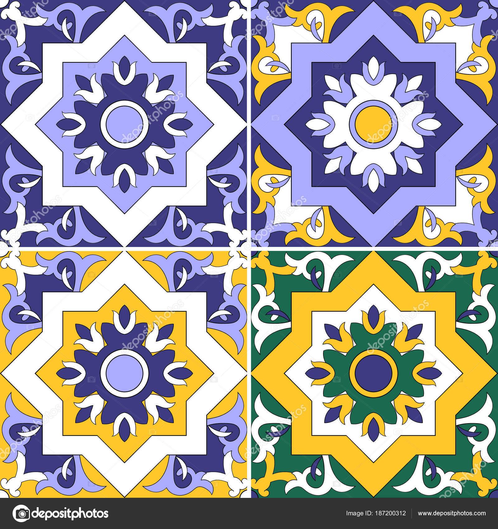 Sammlung Von Keramische Fliesen Gekachelte Musterdesign Marokkanisch - Türkische fliesen online