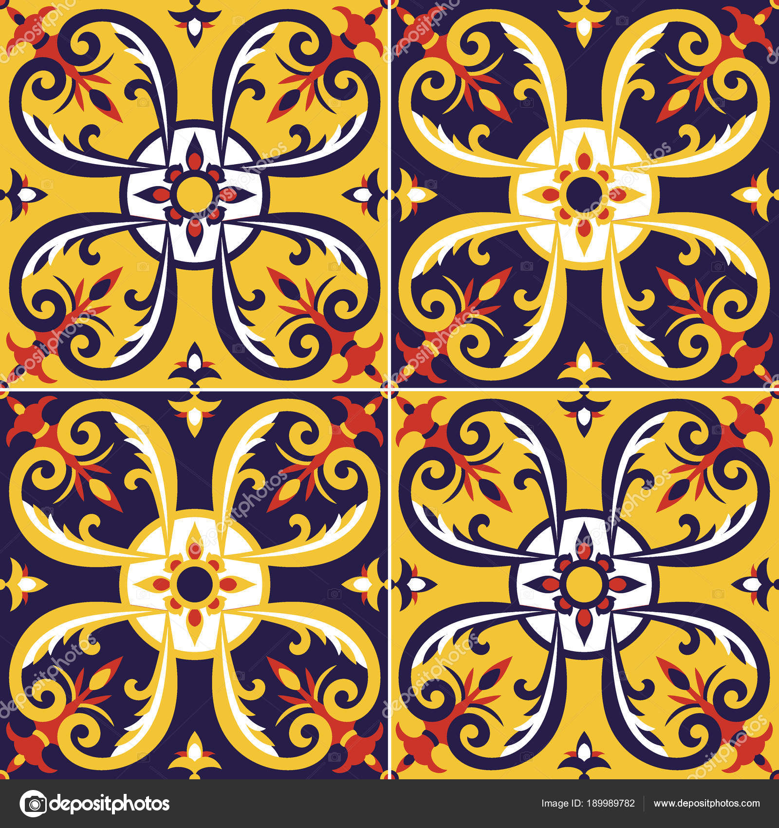 Tile pattern vector seamless — Stock Vector © irinelle #189989782