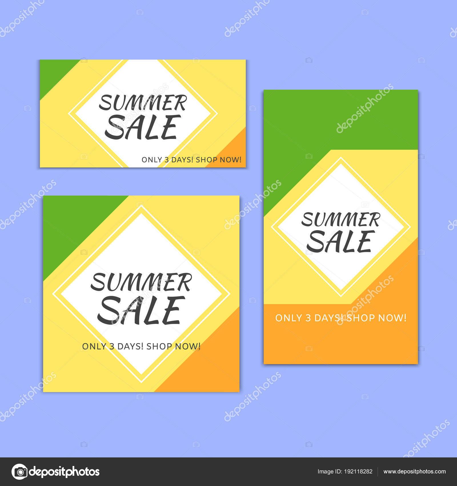 Sammlung des Sommers quadratisch, vertikale und horizontale Banner ...