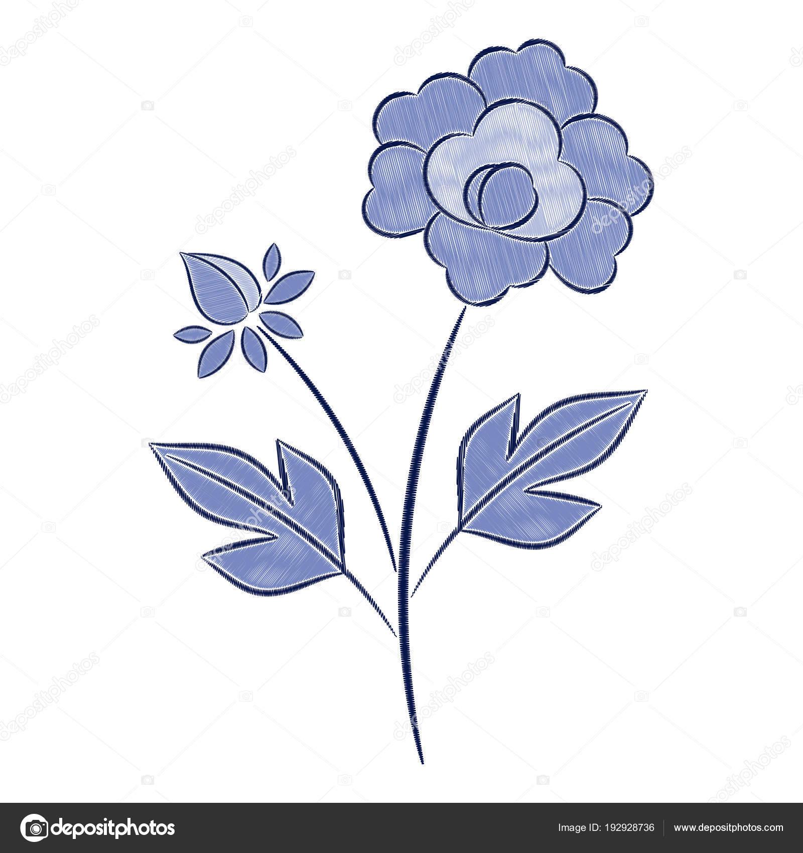 Patron flores bordado | Vector patrón de bordado de flores vintage ...