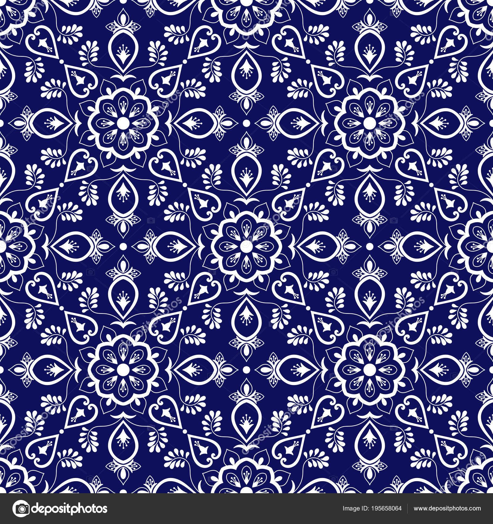 Salle De Bain Discac Loft ~ Carrelage Italien Vecteur Avec Ornements Bleus Et Blancs Azulejos
