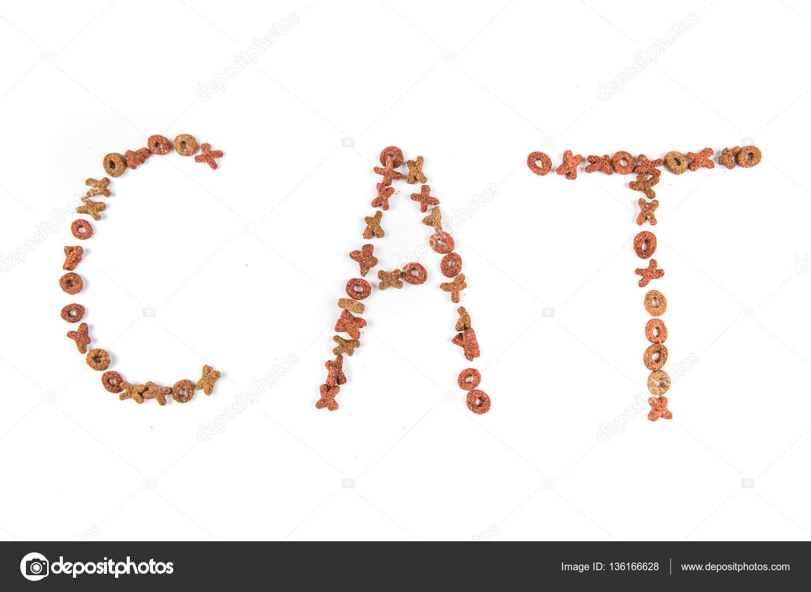 spreuken voeding Voeding voor de kat die spreuken van de word kat — Stockfoto  spreuken voeding