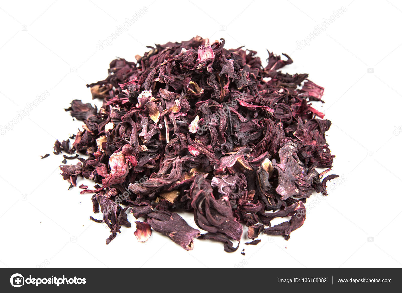 Dried Hibiscus Flower Petals Stock Photo Ecummings00 136168082