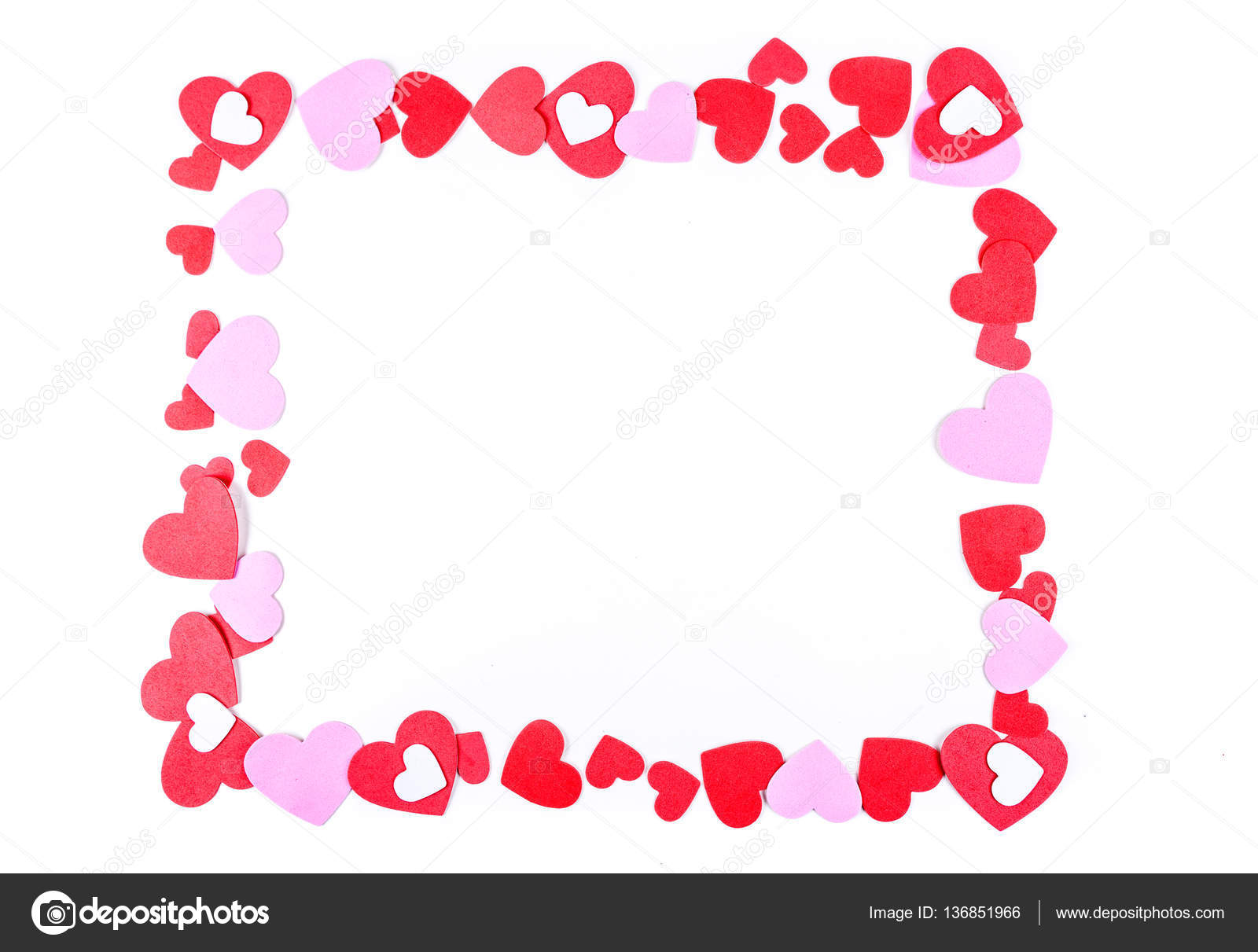 Pink and red heart frame — Stock Photo © Ecummings00 #136851966