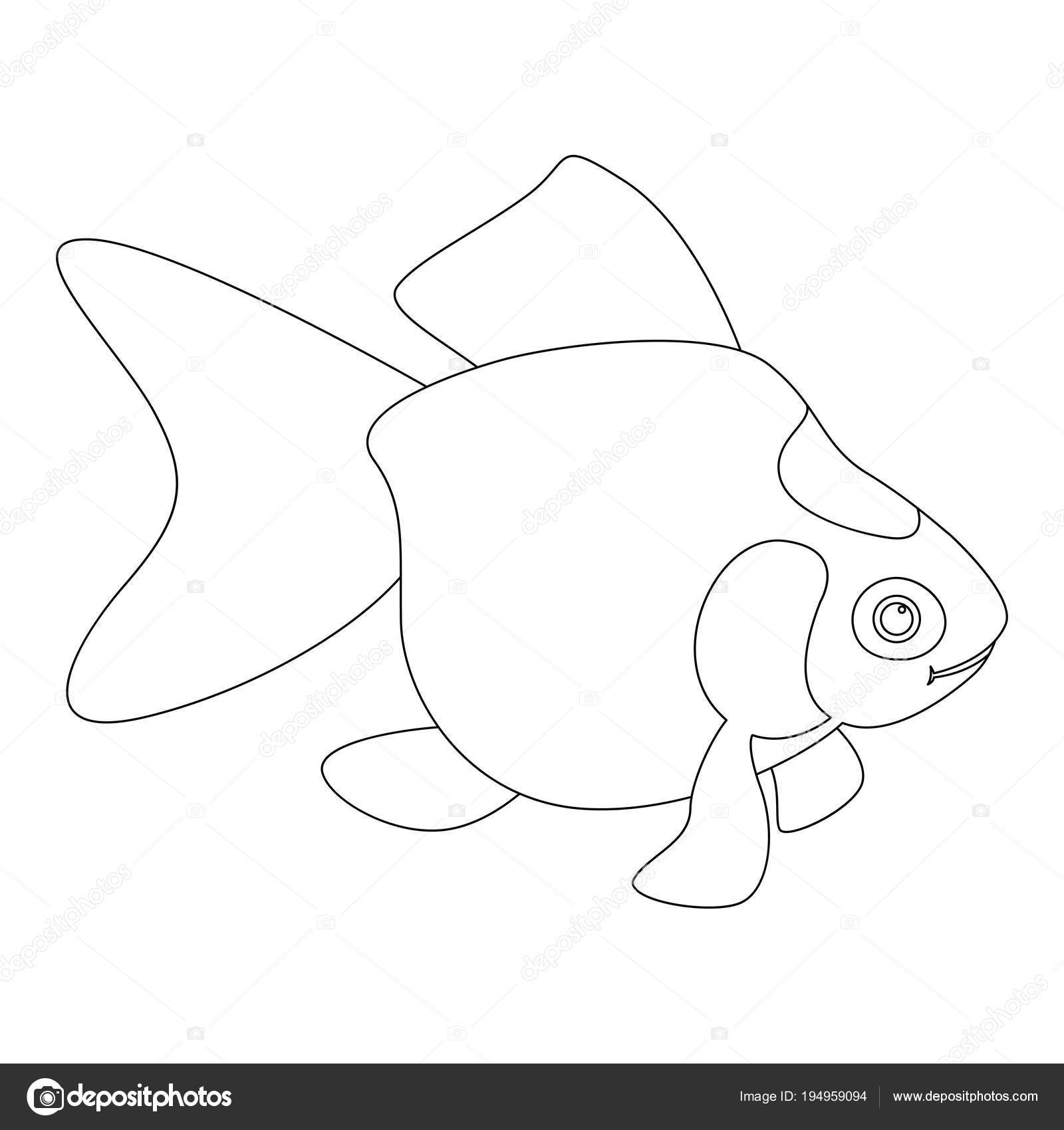 Aquarium Fish Vector Illustration Coloring Book Profile Stock