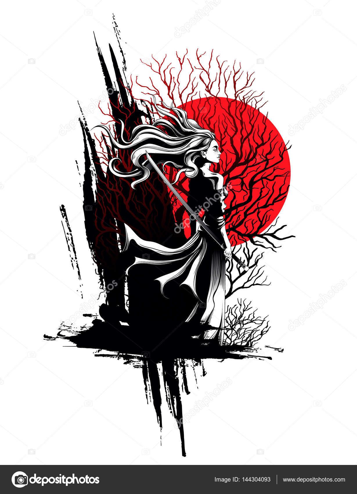 самурай девушка картинки