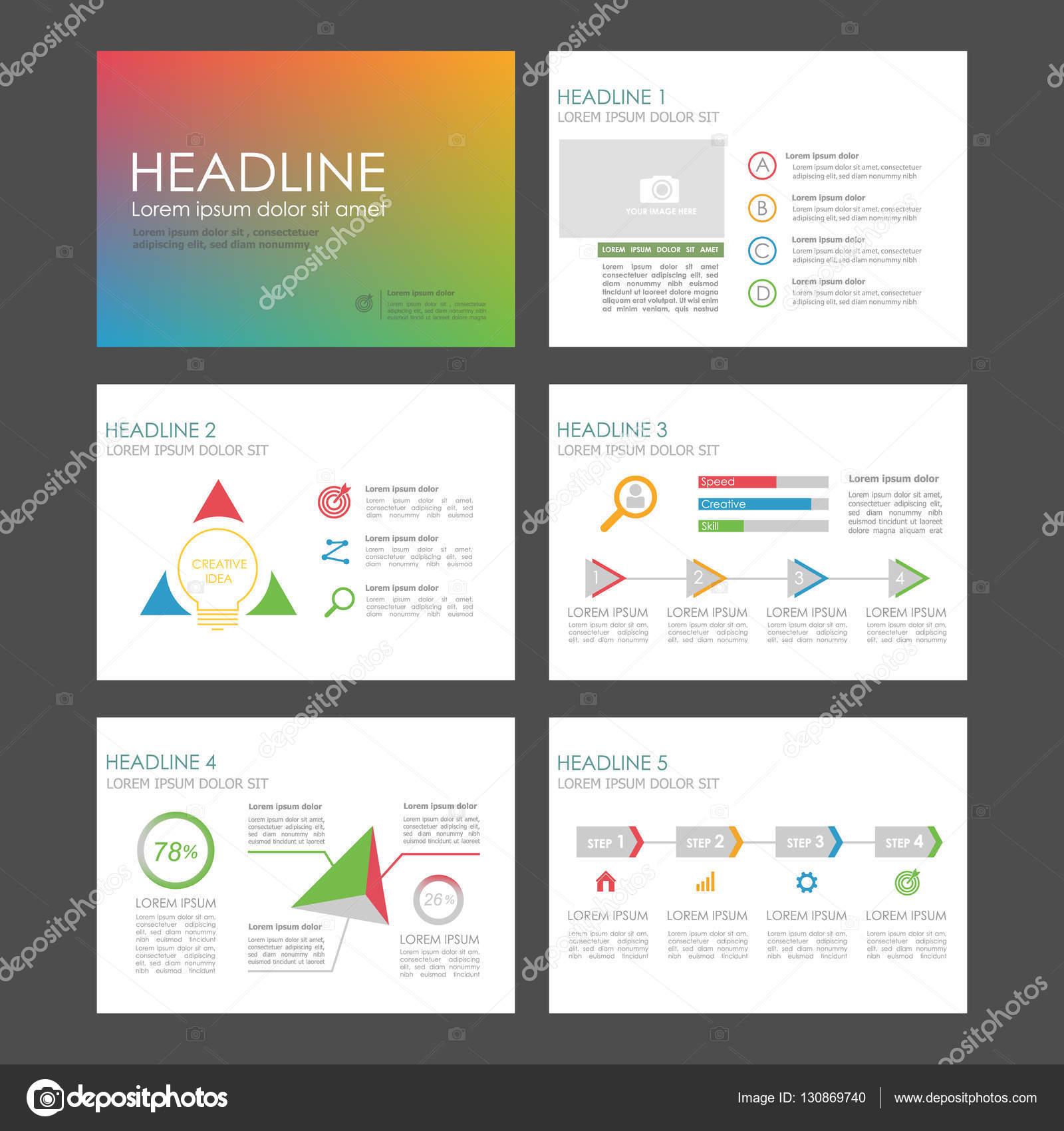 Infografik-Elemente für Präsentationsvorlagen — Stockvektor ...