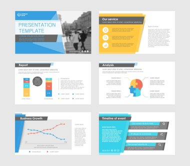 Infographic elements for presentation templates.