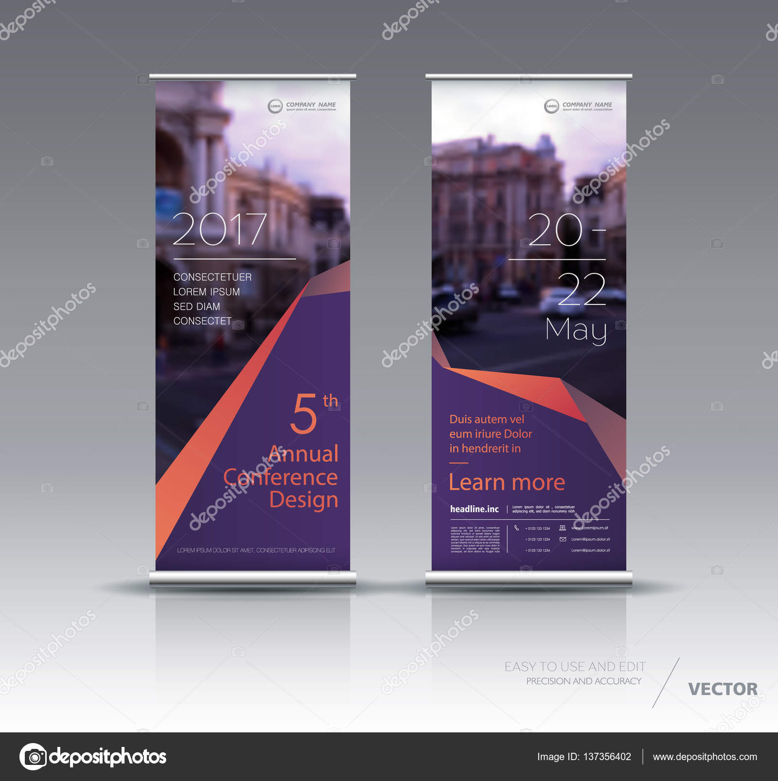 vertical banner template design stock vector vector s 137356402