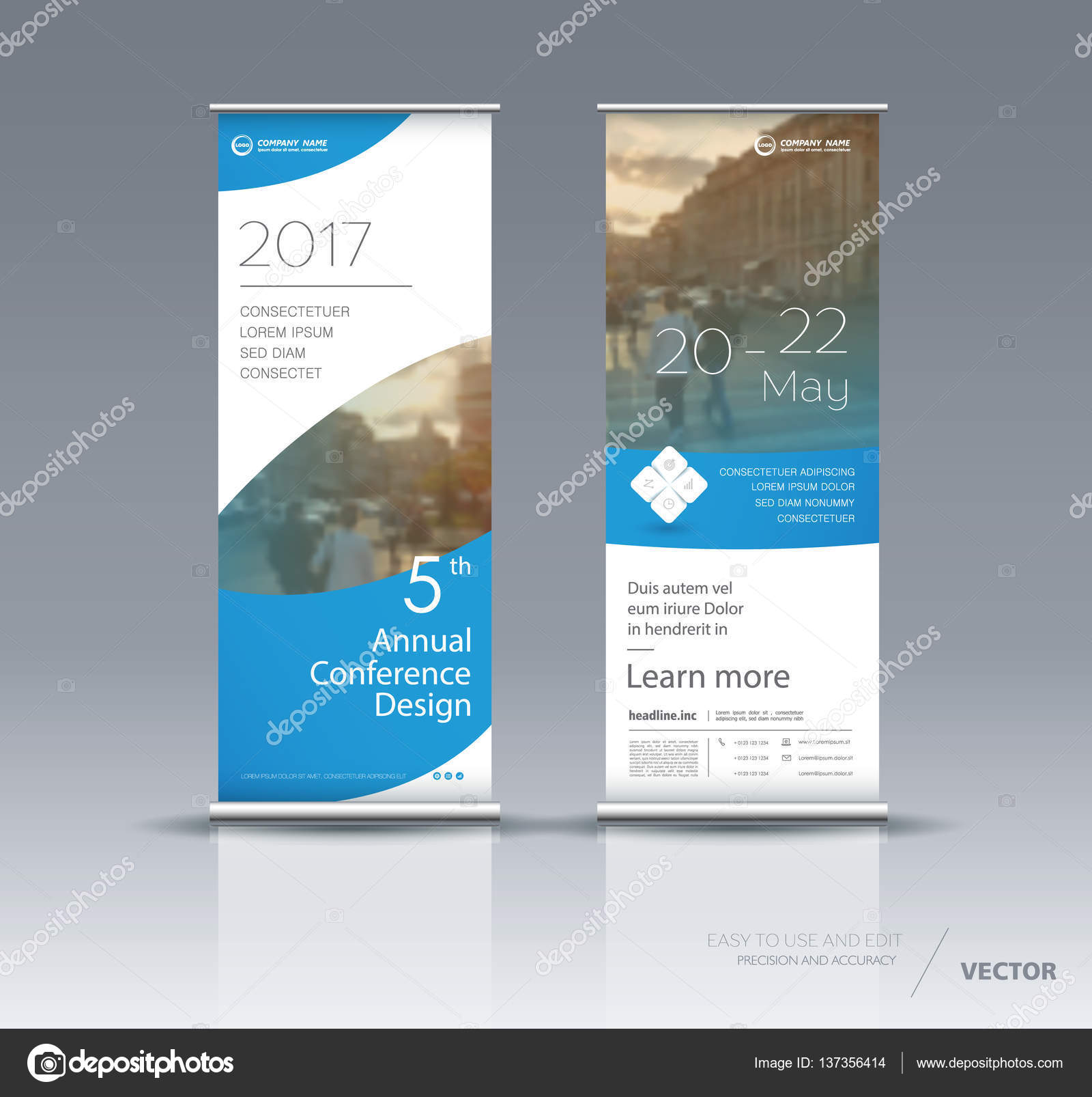 vertical banner template design stock vector vector s 137356414