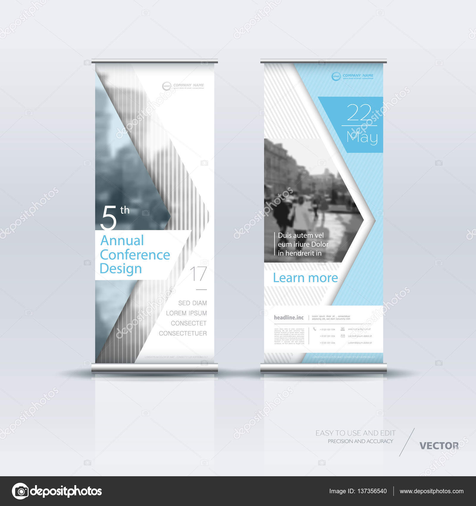 Vertical Banner Template Design Stock Vector C Vector S 137356540