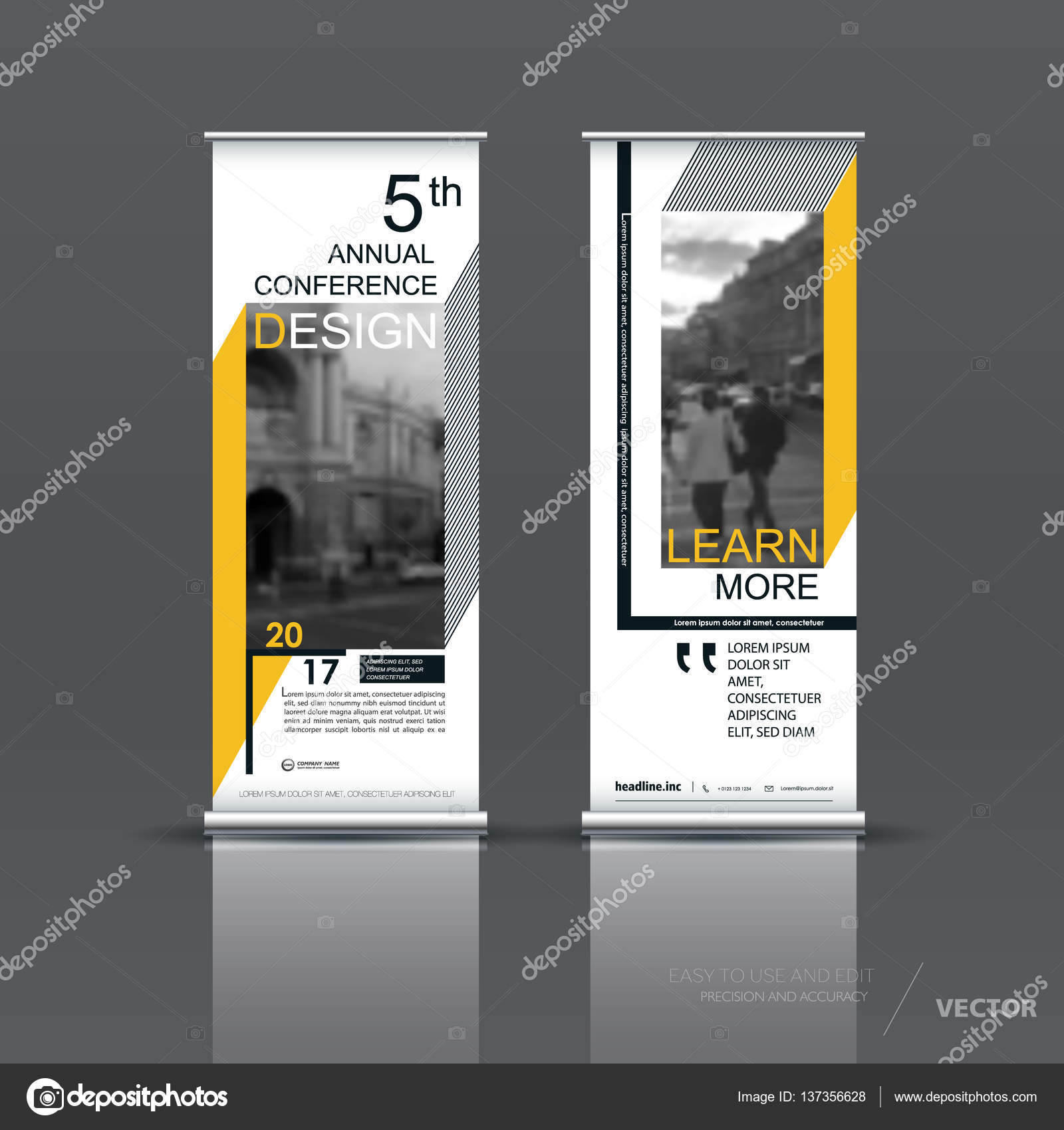 Vertical Banner Template Design Stock Vector C Vector S 137356628
