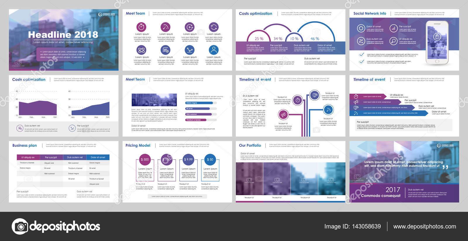 Elemente für Infografiken und Präsentation Vorlagen — Stockvektor ...