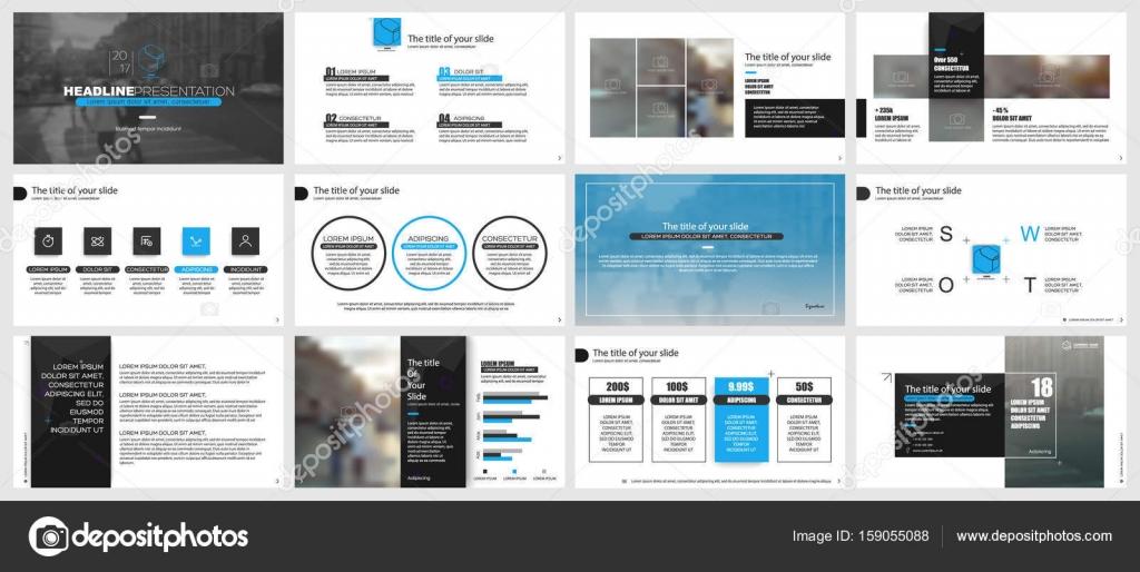 powerpoint presentation templates stock vector vector s 159055088