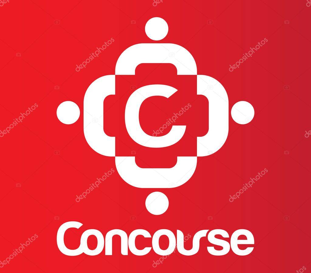 Concourse Logo With C — Stock Vector © sdCrea #129137338