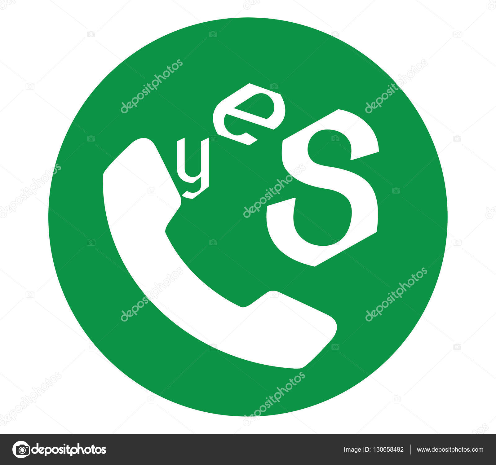 yes icon for phone stock vector sdcrea 130658492