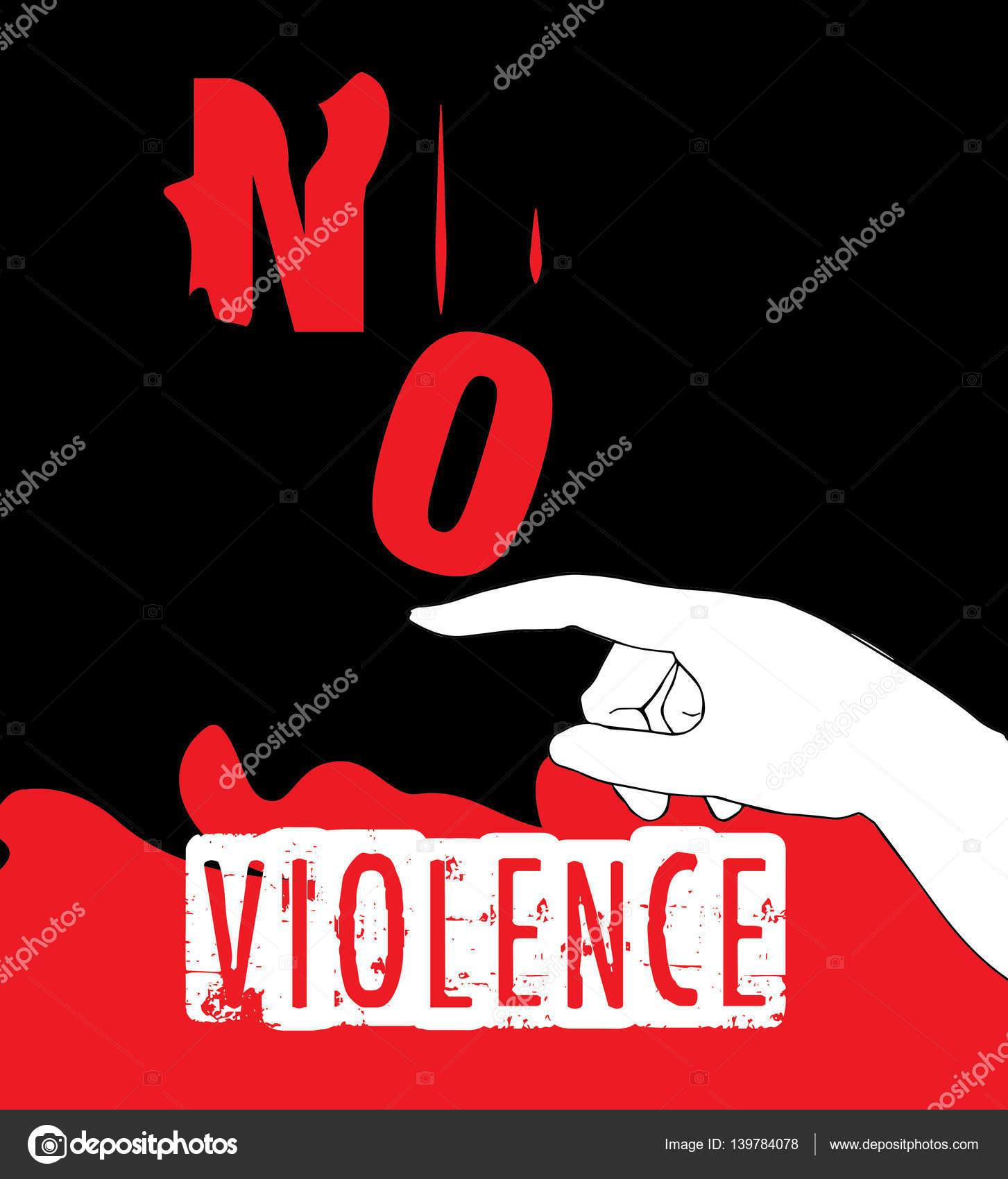 Nie Na Projekt Plakatu Protest Przemoc Grafika Wektorowa