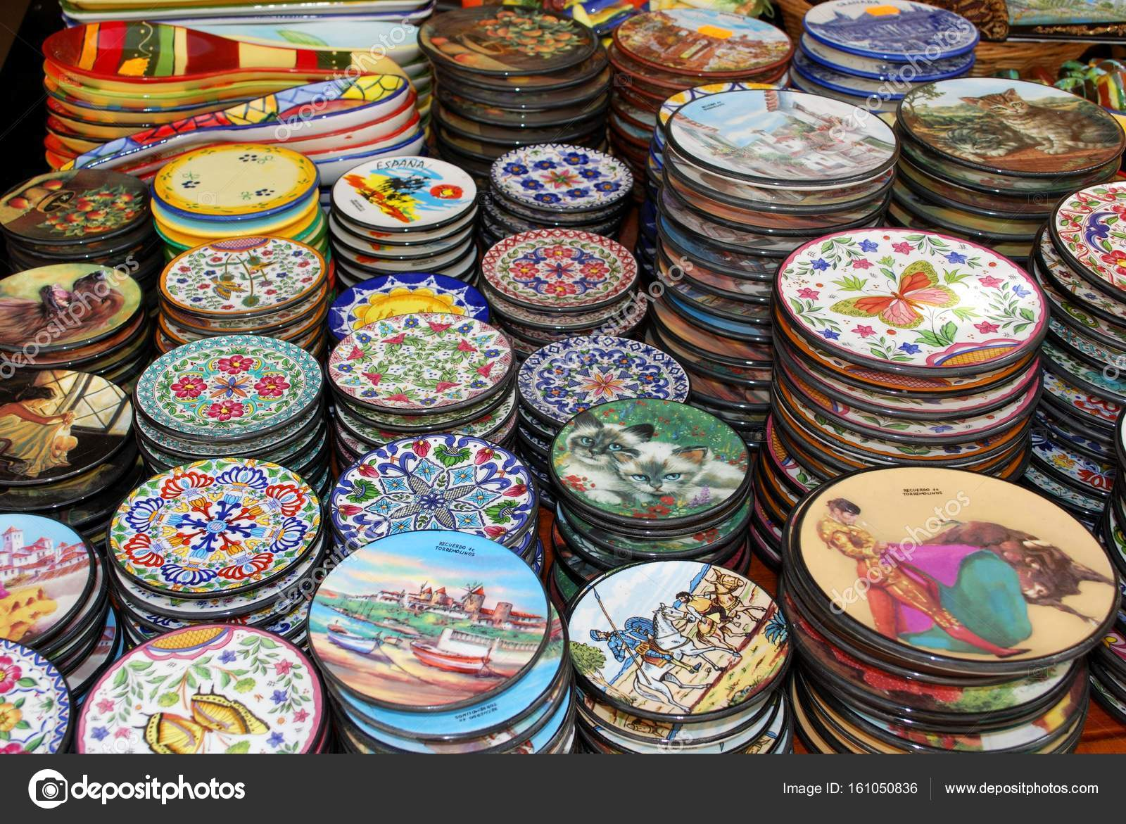 Plates For Sale >> Pretty Ceramic Plates For Sale At An Old Town Shop