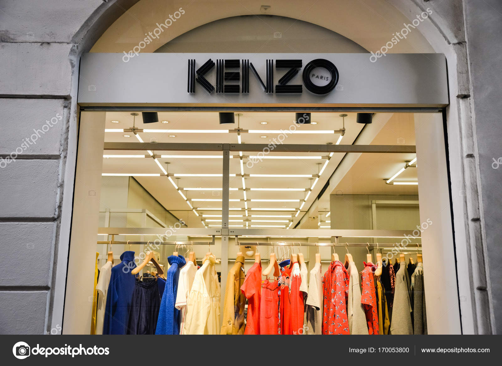 wholesale dealer b552c f6eef Milan, Italy - September 24, 2017: Kenzo store in Milan ...