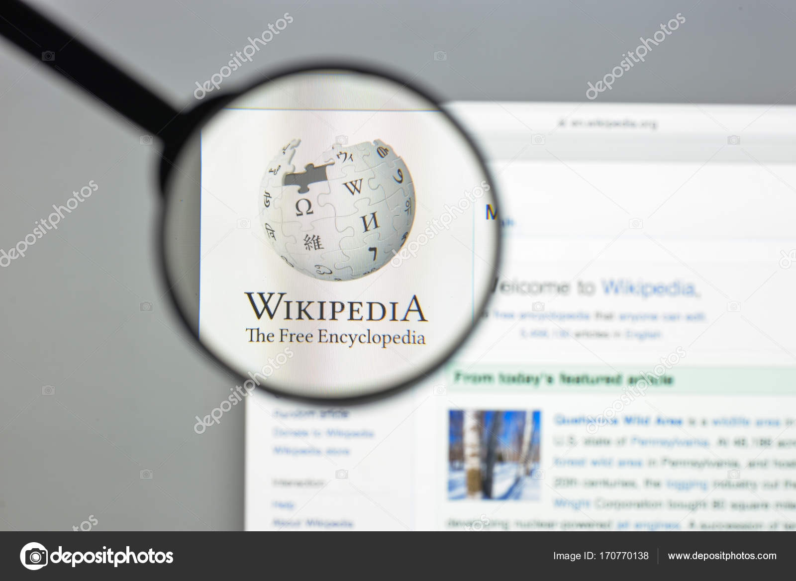 Milan, Italy - August 10, 2017: Wikipedia website homepage
