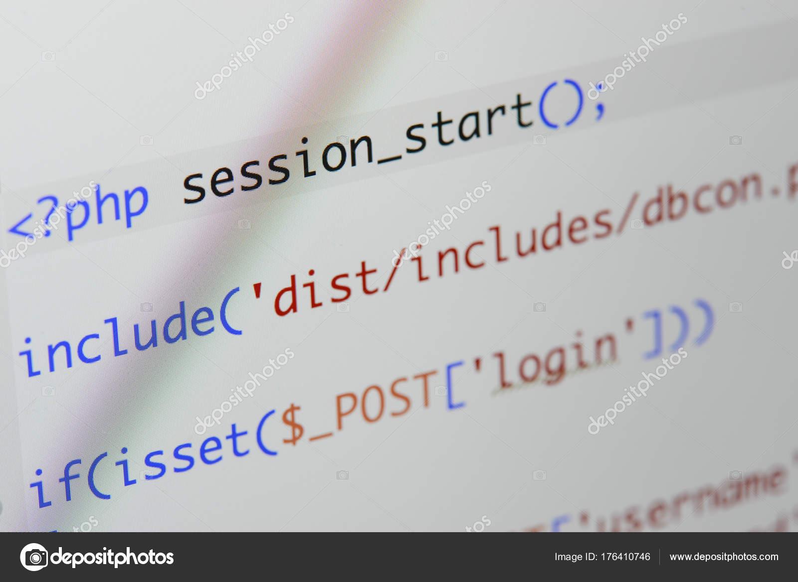 Pantalla real Php código en desarrollo. Al Resumen de flujo de ...
