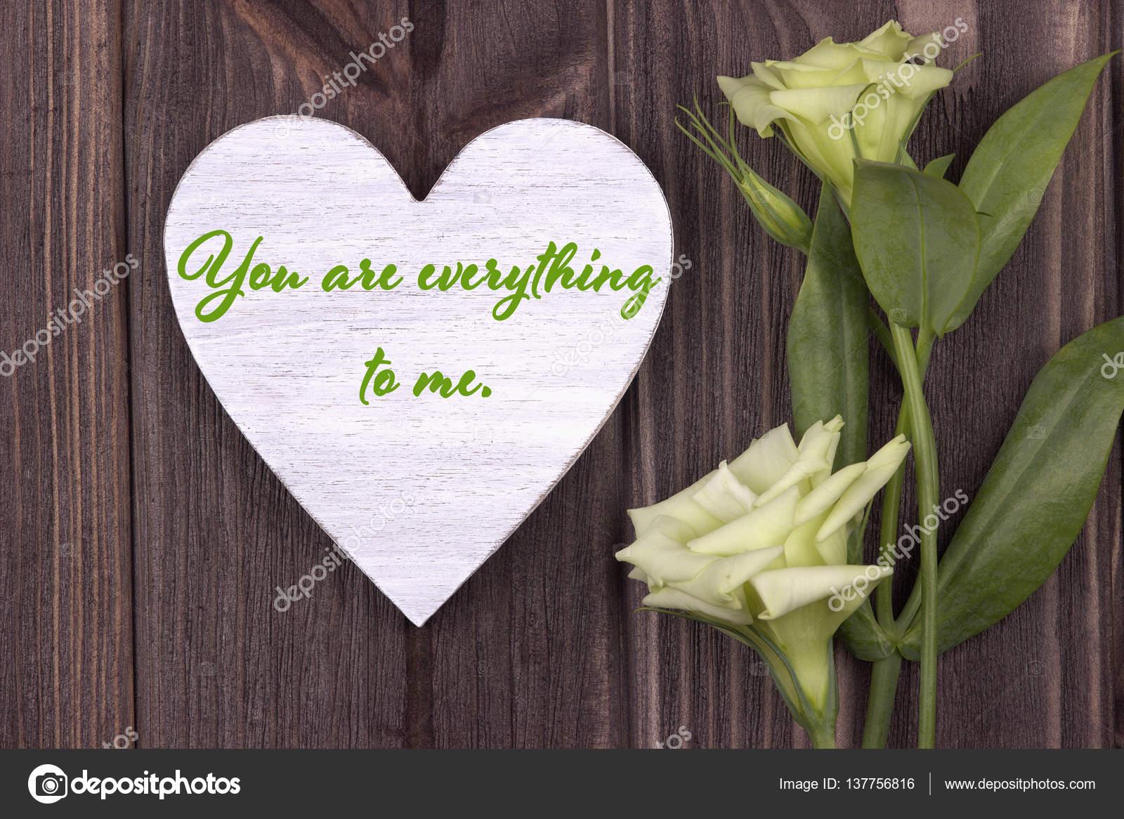 Cartolina Di San Valentino Con Testo Tu Sei Tutto Per Me Verde