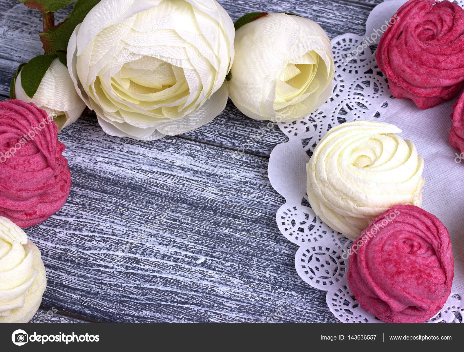 White Buttercup Flowers Ranunculus White And Pink Zephyr