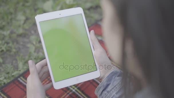 Zelená obrazovka mobilní telefon 4k Apple Tablet