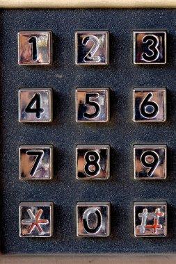 Phone number keypad at old street phone