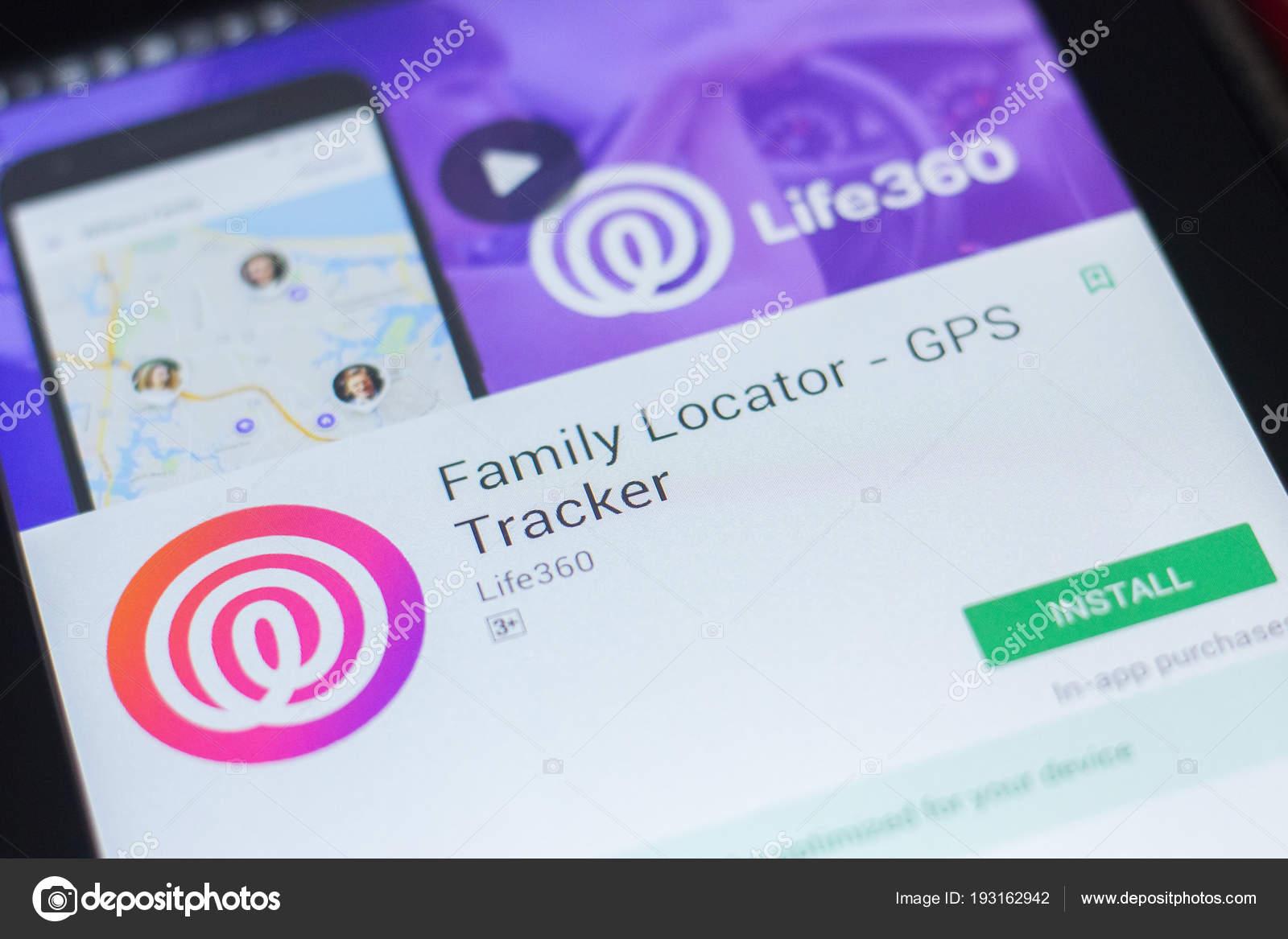 ryazan russia april 19 2018 family locator gps tracker