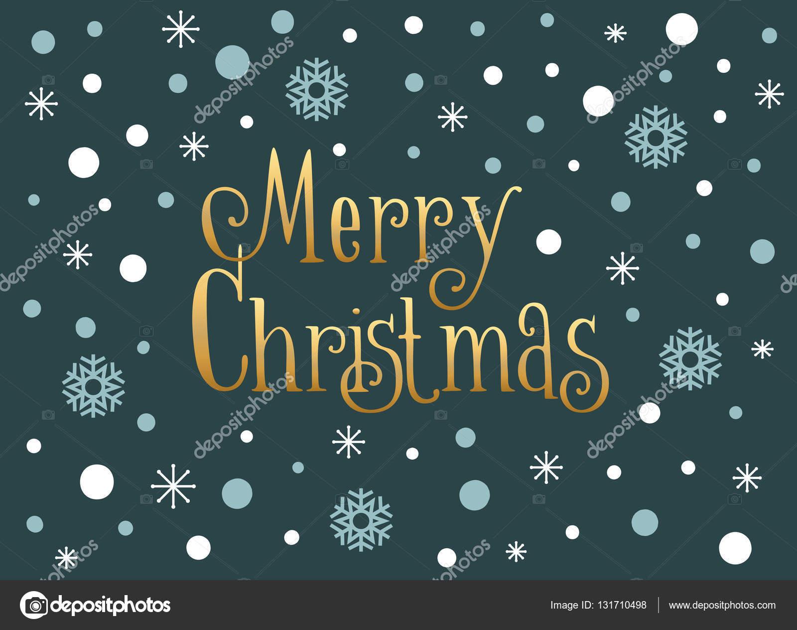 Lustige Weihnachtskarte mit Schneeflocken und Schnee, Vektor Vorlage ...
