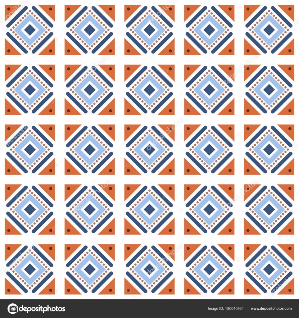 Vector seamless pattern tiling with different geometric shapes in ...