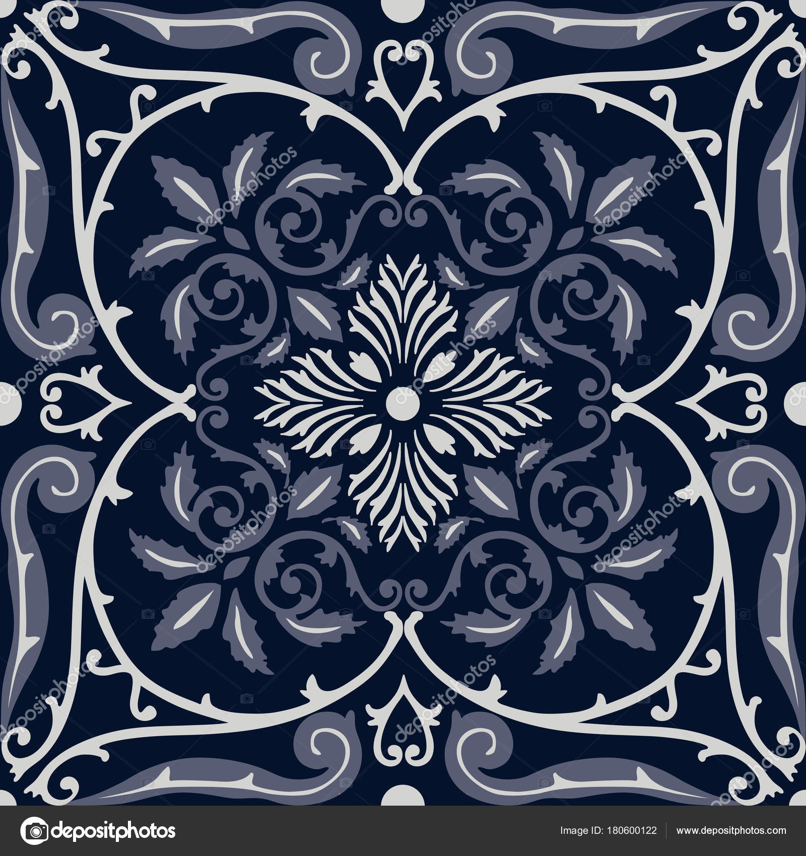 Vector seamless pattern tiling with arabesque — Stock Vector ...