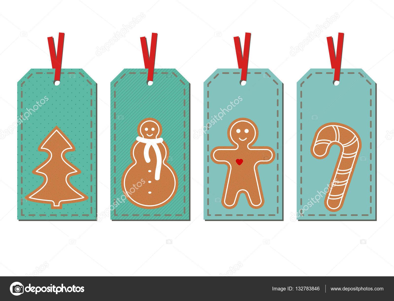 Set mit Frohe Weihnachten und Happy New Year Vintage ...