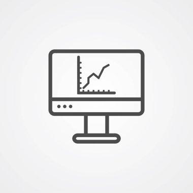 Monitor vector icon sign symbol
