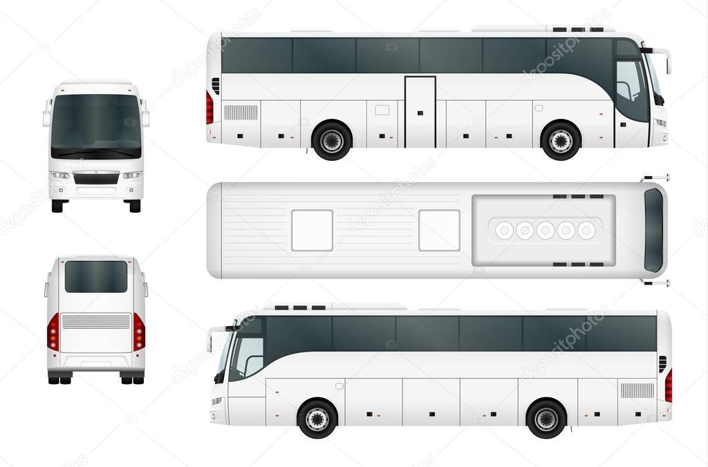白ベクトル バス テンプレート ストックベクター imgvector 126967918