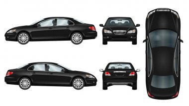 Black car vector template