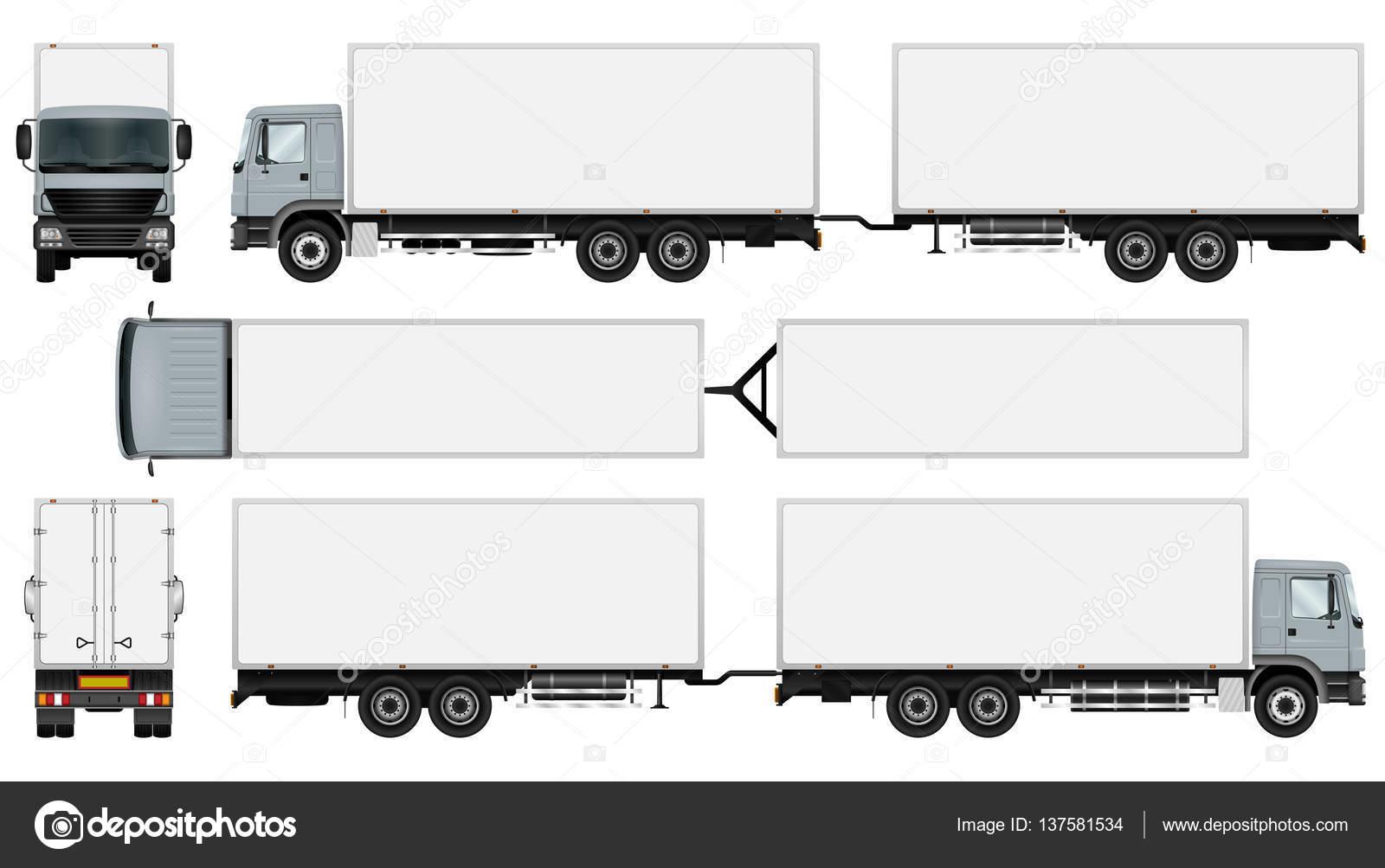 Plantilla de remolque de camión — Vector de stock © imgvector ...