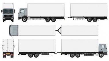 Truck trailer template