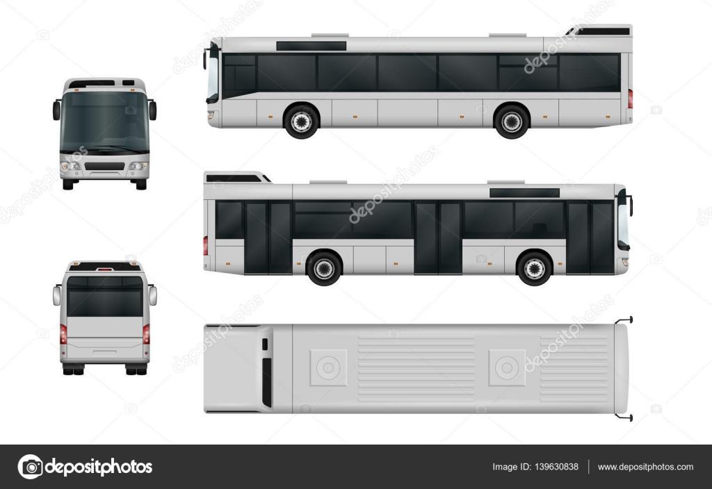 City Bus Vektor Vorlage — Stockvektor © imgvector #139630838